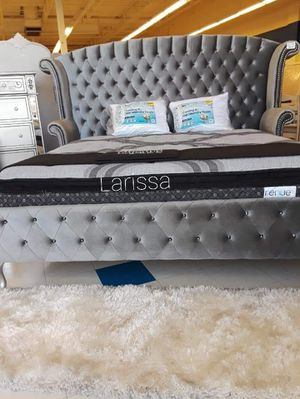 ♡Brand New Gray or Black Velvet Platform QUEEN Bed Frame $699 》 King size $799☆FREE AND SAME-DAY DELIVERY🚚 for Sale in Houston, TX