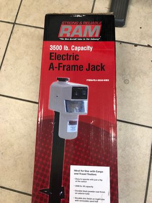 "Electric Jack w/ Footplate - A-Frame - 25-1/8"" Lift - 3.5K - Black - Electric trailer jack- We carry all trailer parts - we can install for Sale in Plant City, FL"