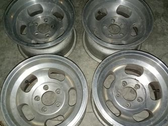 15x8 VINTAGE SLOT MAGS!! CHEVY 4.75 BOLT PATTERN! NO CAPS!! 350$ for Sale in Los Angeles,  CA