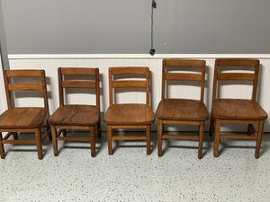 Solid oak kids chairs ($10 each) for Sale in Smyrna, GA