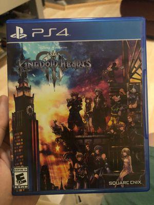 Kingdom Hearts 3 PS4 for Sale in Naperville, IL