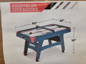 ESPN air hockey table. Comes in box. $200 FIRM for Sale in Redlands, CA