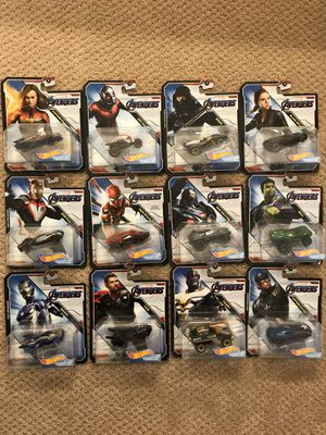 Complete set (12) of Marvel Avengers Hot Wheels for Sale in Mill Creek, WA