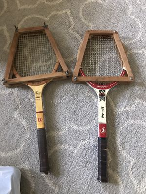 2 vintage tennis rackets racquet for Sale in Westmont, IL