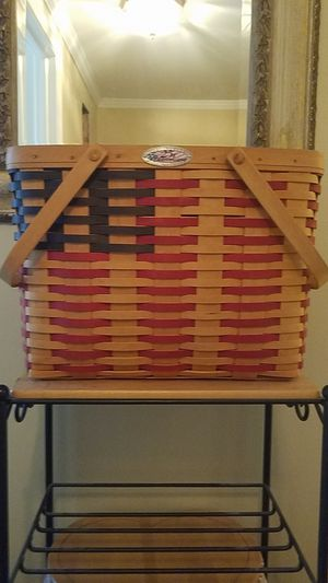 1998 Longaberger 25th Anniversary Flag Basket (collectors club) for Sale in North Wales, PA