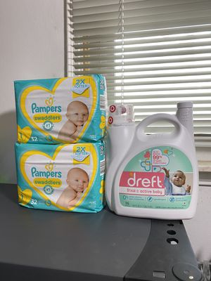 Bundle Dreft 150oz and 2 Pampers diapers ( sizes: size 1 or 4 or 6) for Sale in Melvindale, MI