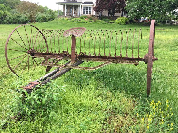 Antique hay rake now $200