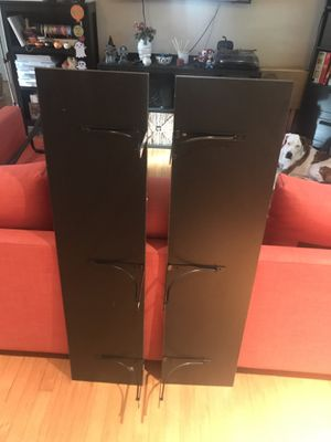 Two Black IKEA shelves with Brackets for Sale in Coral Gables, FL