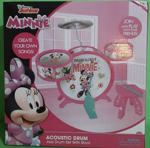 Disney Minnie Mouse Junior Acoustic Jazz Drum Set With Stool for Sale in Bakersfield, CA