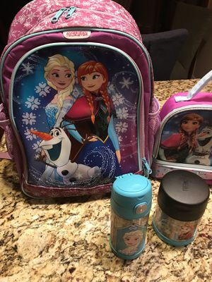 Backpack for girls and lunch box for Sale in Henderson, NV