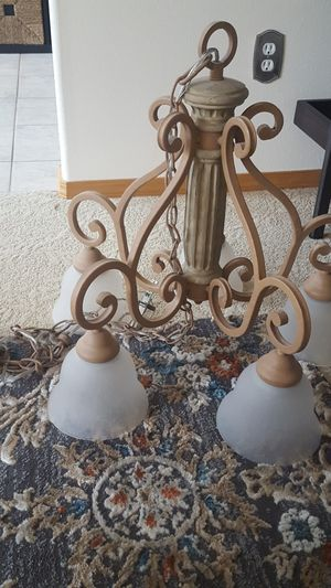 Swag chandelier - tuscan for Sale in Damascus, OR