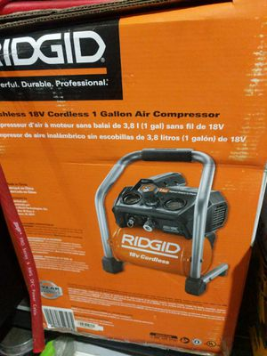Rigid battery operated air compressor for Sale in South Jordan, UT