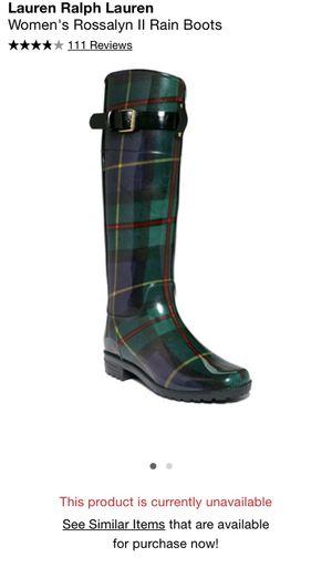 Women's Ralph Lauren rain boots for Sale in Chula Vista, CA
