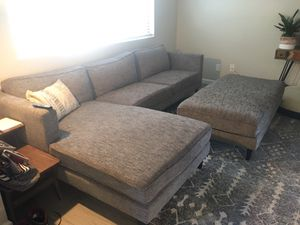 Sectional couch with chaise and ottoman for Sale in Lake Forest, CA