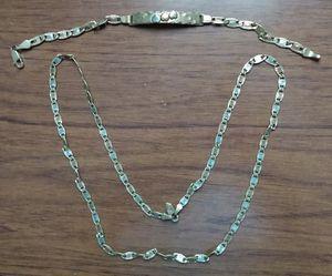 Gold, Necklace, Bracelet, 14kt Solid Gold, 18grams for Sale in West Los Angeles, CA