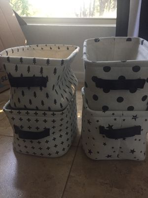 Small canvas storage totes for Sale in Phoenix, AZ