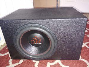 """Massive Audio GTX124 1400 Watts 12"""" Dual Ohm Car Audio Subwoofer in Q Bomb Pro Box for Sale in Dallas, TX"""