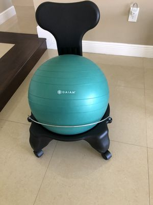 Gaiam Classic Balance Ball Chair – Exercise Stability Yoga Ball Premium Ergonomic Chair for Home and Office Desk for Sale in Hialeah, FL