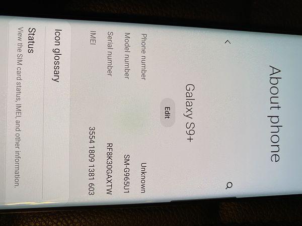 Factory unlocked s9 plus.. Samsung galaxy