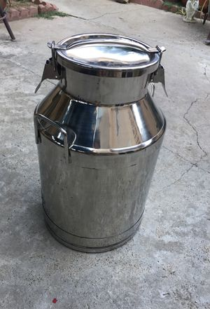 Stainless steel Milk Can Bucket wine Pail for Sale in Loma Linda, CA