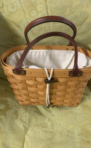 Longaberger signed Sunnyside basket/tote collectors edition for Sale in Rehoboth, MA