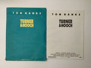 """""""Turner & Hooch"""" Movie Press Release Production Notes with 8x10 Photos. for Sale in Visalia, CA"""