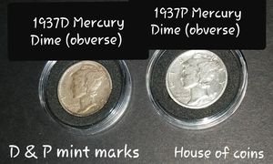 1937 P&D Mercury Dimes for Sale in Declo, ID