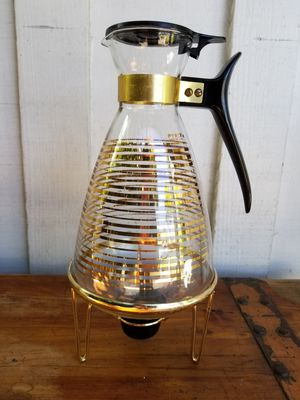Vintage Pyrex Carafe w/ Metal Stand for Sale in Whittier, CA