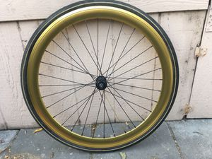 Front wheel and tire fixie aluminum good condition for Sale in San Jose, CA