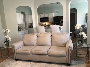 Ashley Large Sofa Couch & 2 End Tables For Home Decor Living Room for Sale in Spring, TX