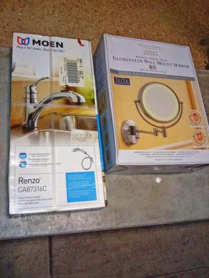 Home Improv 😁 Kitchen Faucet - Illuminated magnifying Mirror for Sale in Fremont, CA