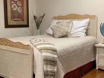 Beautiful Pier One 6 Piece Wicker Bedroom Set for Sale in Westwood,  NJ