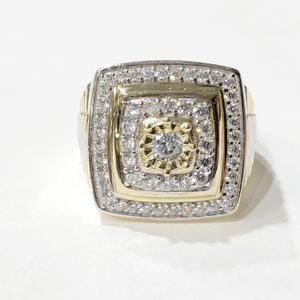 10K Yellow Gold Man's Rolex Cluster Ring Size: 11 with CZ's 10012139-2 for Sale in Tampa, FL