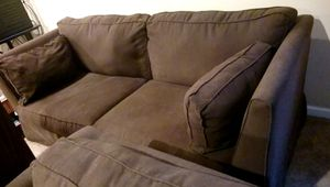 Sofa and love seat, dark brown for Sale in Purcellville, VA