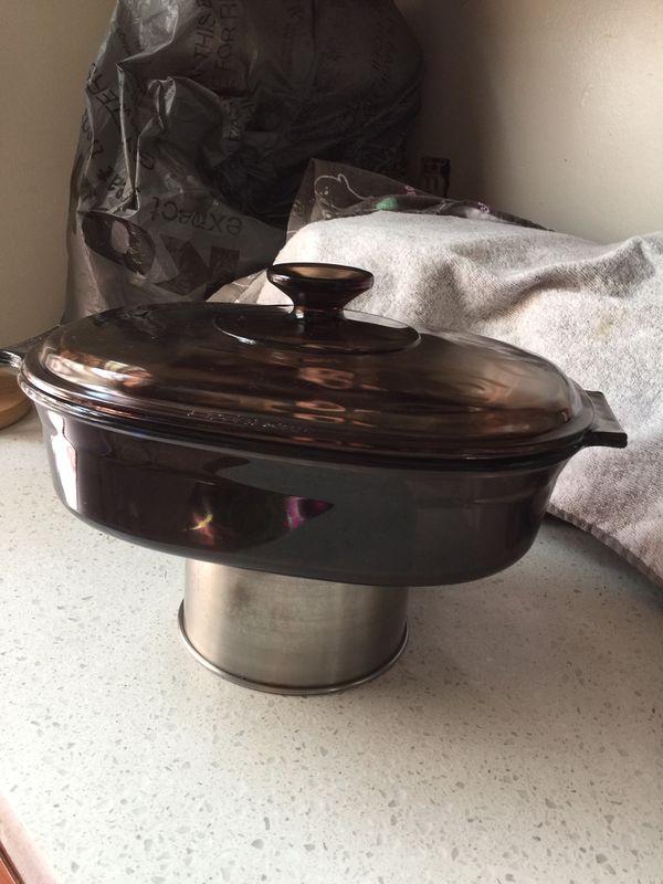 Vintage pyrex Brown 2Lt