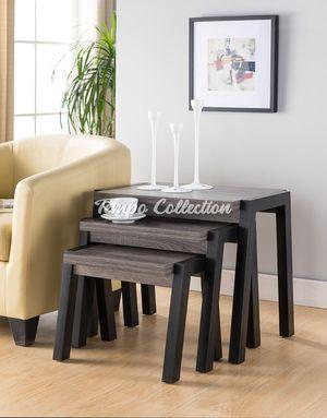 End Table Set of 3, Grey, SKU# ID161610-X3TC for Sale in Santa Fe Springs, CA