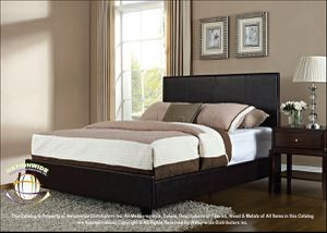 BRAND NEW Nationwide Furniture B500 Leather Platform Bed. Dark Brown. TWIN/FULL/QUEEN/KING for Sale in Columbus, OH