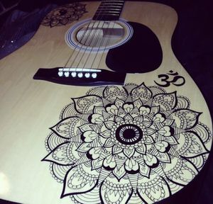 Hand Painted Acoustic Guitar for Sale in Henderson, NV