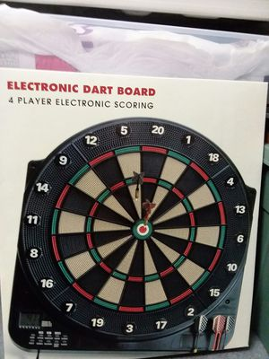 Electronic Dart Board with voice announcer and dynamic sound effects, 13 different games to play. Fun for the entire family for Sale in Owings, MD