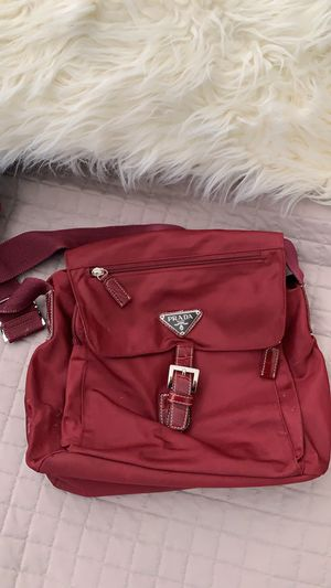 **Authentic** Prada burgundy nylon messenger bag for Sale in San Diego, CA