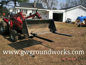 Forks tractor forks bucket clamp on forks made in USA for Sale in Boon, MI
