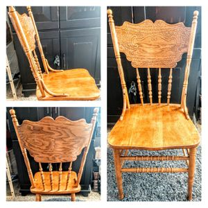 Set of 2-Detailed Country Style Wooden Chairs for Sale in Arvada, CO