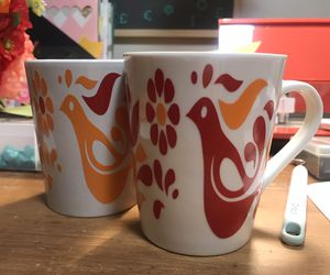 Pyrex inspired mugs- for Sale in Las Vegas, NV