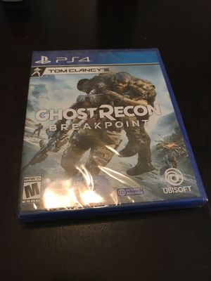 PS4 Ghost Recon Breakpoint - New Sealed for Sale in Pearland, TX