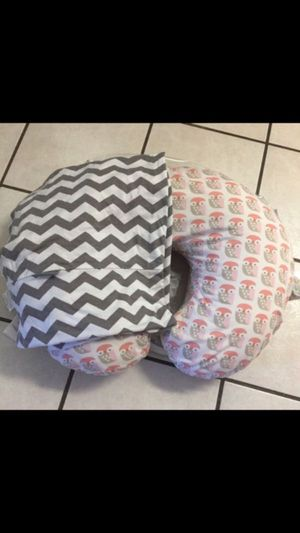Boppy pillow and cover & nursing/car seat cover for Sale in Kingsburg, CA