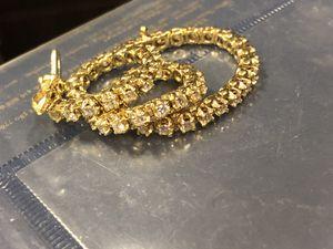 Diamond tennis bracelet 14k gold for Sale in San Jose, CA