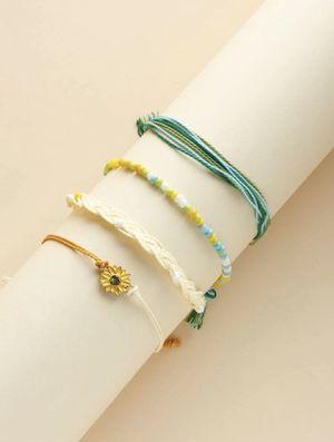 Beautiful NEW 4 piece sunflower charm bracelet set for Sale in San Diego, CA