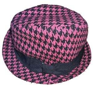 Icing Women's Fedora Hat Pink & Black, Black Side Fabric With Ribbon for Sale in Joliet, IL