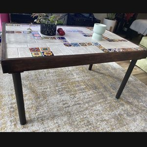 Hand Made Tile Top Coffee Table for Sale in Portland, OR