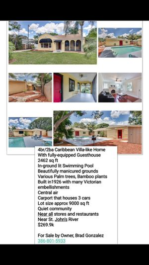 House with Detached Guest House/Pool for Sale in Wahneta, FL